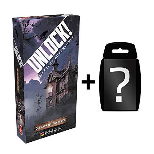 Unlock! - Das Haus auf dem Hügel - Brettspiel | DEUTSCH | Ratespiel | Set inkl. Kartenspiel