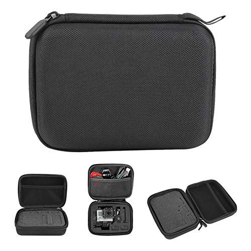 Bolsa de cámara, Bolsa de Almacenamiento portátil de EVA Suave a Prueba de Golpes, para Accesorios de cámara GoPro Hero, Negro