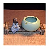 sknonr Cenicero Multifuncional de cerámica Moda Creativa a Prueba de Viento Nuevo Chino Gran Sala de Estar Oficina Personalidad Personalidad Zen (Color : E)