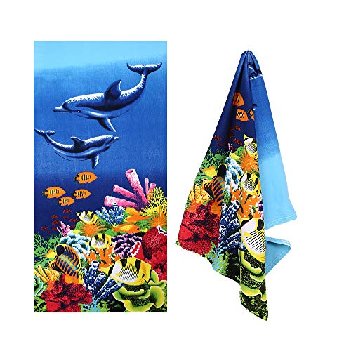 XULE Microfiber Beach Towel - Ultra Soft and Absorbent Large Beach Towel,Lightweight Outdoors Pool Blanket Towel for Kids Adults 30 x 60 inch