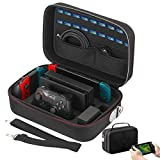 Vikena Deluxe Travel and Storage Case for Nintendo Switch,Game Carrying Case fit for Switch Pro...