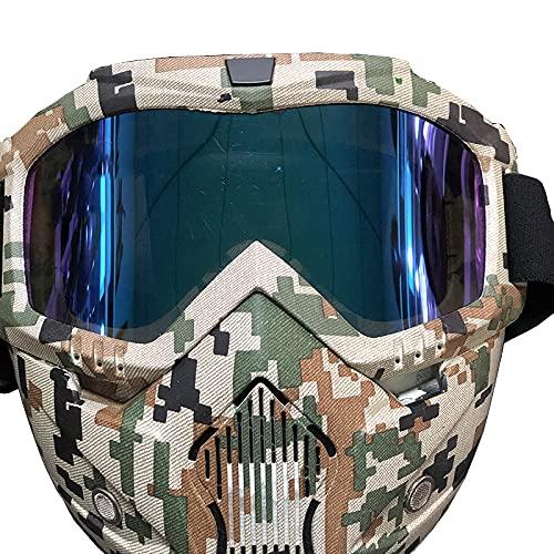 Máscara táctica Máscara protectora militar Media cara Paintball Máscara Airsoft, Máscara para hombres Mujeres Airsoft Airsoft CS Cosplay Máscara protectora de calavera para Halloween Caza Paintball