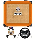 Orange Amps Crush 12-12-Watt Guitar Combo Amplifier with 3 Band EQ Bundle with Blucoil 10' Straight...