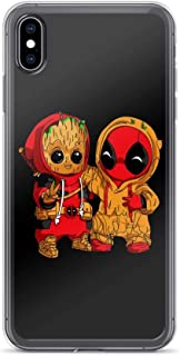 Baby Groot and Dead-Pool Shockproof Anti-Scratch Case for iPhone XR