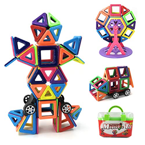 Magnetpro Bloques de construcción magnéticos Niños 108 Piezas Juguetes magnéticos, Juguetes educativos 3D, Regalo de cumpleaños para niños para niños a Partir de 3 años (108 Pieza)