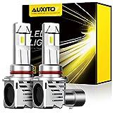 AUXITO 9005 LED Headlight Bulbs 12000LM Per Set 6500K Xenon White Mini Size HB3 Wireless Headlight Bulb, Pack of 2