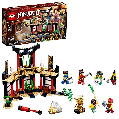 LEGO71735NinjagoLegacyTorneodelosElementos, SetdeConstruccióndeTemploconArenadeBatallayMiniFiguraDorada