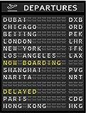 KangH Flughafen Board Poster Ziel Leinwand Malerei Reise