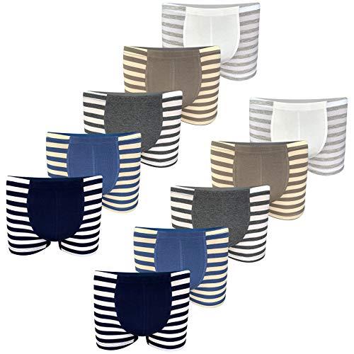 PiriModa 10 calzoncillos tipo bóxer de algodón para niño, tallas 92-170, edad 2-15 años Modelo 6 92/98 cm