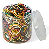 Rubber Bands 800 Pcs 2.5cm 1' Small Rubber Bands 6 Colors Assorted Mixed Rainbow Colorful Rubber Bands for Office School Home Strong Elastic Band Loop Office Supplies
