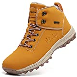TSIODFO Women Fur Snow Boots for The Cold Weather Ladies Winter Shoes Outdoor Hiking Trekking Ankle Walking Shoes Size 9.5