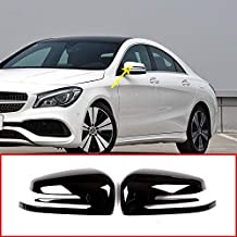 for Mercedes Benz A W176 B W246 C W204 E W212 CLA w117 CLS w218 GLK X204 GLA Class X156 ABS Chrome Plastic Side Rearview Mirror Cap Cover Trim Gloss Black