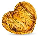 Holzschale Olivenholz ca. 22x21cm Herz Schale Holz Tischdeko Dekoschale Unikat Snackschale Herzform Love Liebe