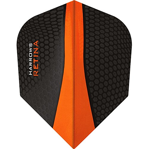 HARROWS Retina Dart Flights – 10 Sets (30) – 100 micron Extra Stark – Standard – Orange