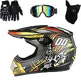 XIAOBUDIAN - Casco de motocross para niños, casco de bicicleta de montaña, todoterreno, para adultos, casco de descenso completo, para bicicleta de montaña BMX y ATV (M)