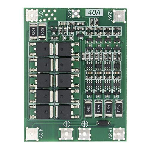 Módulo de fuente de alimentación 4 Cadena 4S 40A Li-ion batería de litio 18650 del cargador de BMS Protection Board Con Equilibrio for el taladro Motor 14.8V 16,8V Módulo Lipo Módulo ajustable