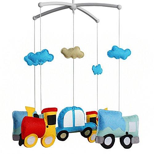 Babybett Dekoration Neugeborenes Geschenk Vlies Handgemachtes Musikalisches Mobile Autos