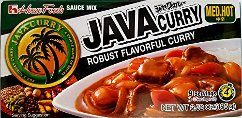 House Foods Java Curry Sauce Mix Med Hot 185g