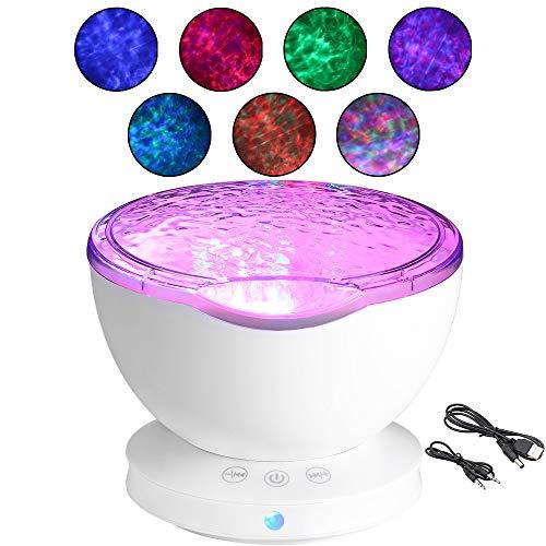 Koiiko - Lampada a forma di stella, multicolore Aurora Master, romantica, con proiettore per rilassarsi e rilassarsi, con mini altoparlante, spegnimento automatico e spegnimento automatico dopo 1 ora