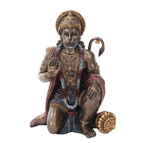 6 Inch Hanuman Mythologische Indiase Hindu God Hars Standbeeld Beeldje