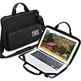 Laptop Case for 14.1-15.6 Inch Macbook Pro Air Chromebook HP Lenovo Work-in Notebook Computer Hard Shell Laptop Bag for Men Women with Pouch and Shoulder Strap (Black, 14.1-15.6 inch laptop case)