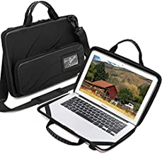 Laptop Case for 13-14 Inch Macbook Pro Air Chromebook HP Lenovo Work-in Notebook Computer Hard Shell Laptop Bag for Men Women With Pouch and Shoulder Strap