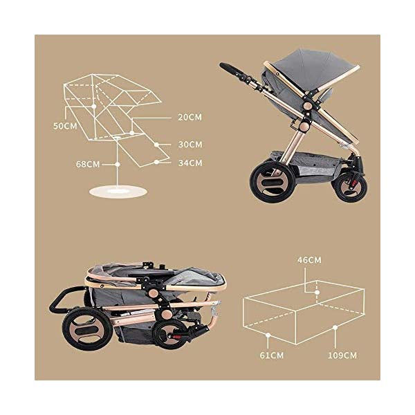 LAMTON Stroller is Suitable for Newborns, can sit and Recline Fast Folding Four Seasons Baby Stroller Suitable for Newborns to Send 6 Gifts, Suitable for 0-36 Months Baby,Blue (Color : Purple) LAMTON The stroller frame is made of stainless steel to make the stroller stronger. The stroller awning is made of linen and is very breathable. Stroller configuration: equipped with five-point seat belt, detachable armrest, adjustable push rod height, bottom enlarged basket The front wheel design of the stroller can be rotated 360°, the built-in spring shockproof, strong shockproof, adapt to all kinds of bumpy roads, make the baby more comfortable 8