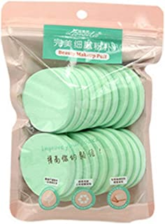 Aland 20Pcs Makeup Facial Sponges Soft Powder Puff Beauty Foundation Cosmetic Pads Green
