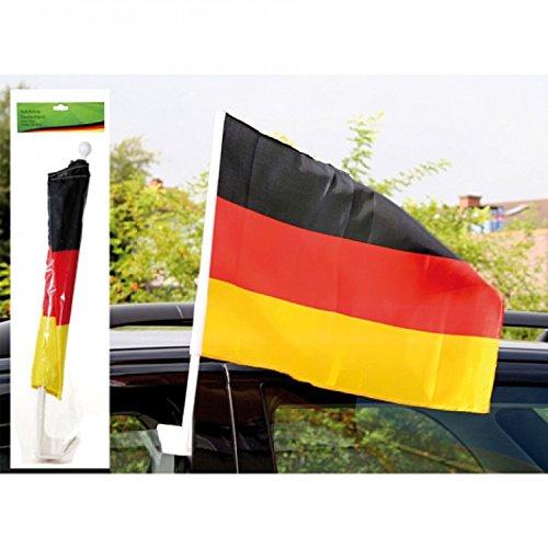 Fan Autofahne Deutschland 45x30cm breiter Stab