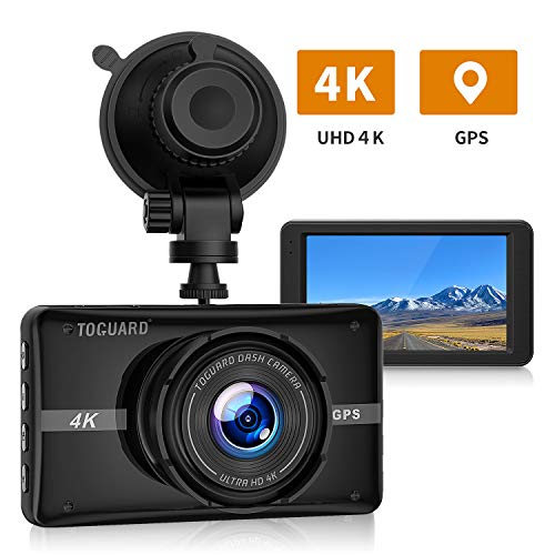 Price comparison product image [New Version] TOGUARD 4K UHD Dash Cam Built-in GPS Dashboard Camera Recorder 3'' LCD 170° Wide Angle Car Dash Camera with Night Vision,  24Hs Parking Mode,  G-Sensor,  Time Lapse