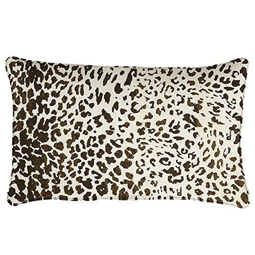 """Mozaic AMZ768021SP Indoor/Outdoor Pillow Set, 13"""" x 20"""", Espresso Leopard"""