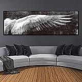 Carteles e impresiones artísticos abstractos modernos de alas largas, pinturas en lienzo, cuadros artísticos de pared para decoración de sala de estar 60x180 CM (sin marco)