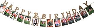 Hatcher lee Happy 18th Birthday Sweet Eighteen 18 Years Photo Banner for 18th Birthday Bunting Kraft Paper