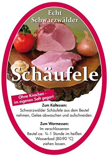 Schwarzwälder Schäufele im Kochbeutel (0,7 - 1,0 kg)- Ohne Knochen, im eigenen Saft gegart - muss nur noch im Kochbeutel erwärmt werden - ohne Kühlung haltbar - Ideal als Geschenk