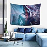 Longocean Yasuo League Legends Game Tapestry Wall Hanging Curtain Decor Bedroom Dorm Living Room Home Beach Blanket Beach Coverlet Poster Popular Decoration 6040 Inch