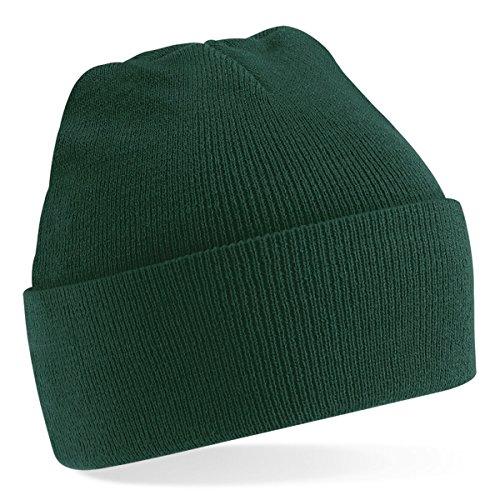 Beechfield, Acryl-Strickmütze für Erwachsene, zum Aufschlagen, Unisex Gr. Einheitsgröße, dunkelgrün
