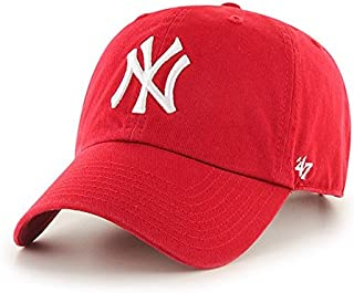 MLB New York Yankees Men's '47 Brand Clean Up Cap, Red, One-Size
