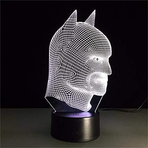 FaceToWind 7 Couleurs changeantes 3D Illusion LED Lampe de Nuit Batman Super Hero Lampe comme Chambre à Coucher Outre Lamparas pour Enfants Lampe de Table