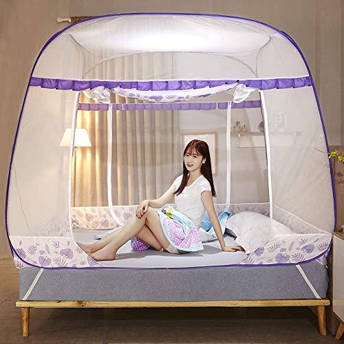 FGDSA Cortinas Plegables del toldo de la Tienda de la mosquitera para la decoración del Dormitorio del hogar de Las Camas, 180x200cm