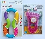 Munchkin Twisty 8 and Munchkin Fun Ice - Mordedor para bebé (pie rosa)