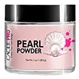 Acrylic Powder for Nails, Pearl Color Nail Art, 1oz Jar by Cacee, For Professional Acrylic Nail Kit, Premix of Pigments, Pearlescent & Metallic Effects (Pastel Pink #21)