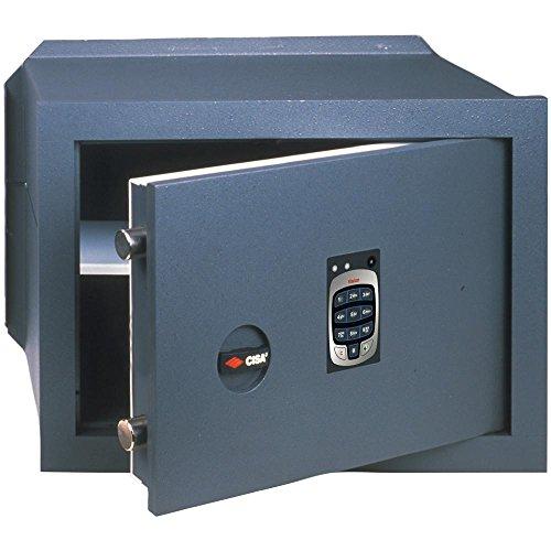 Cassaforte cisa a muro combinazione elettronica in acciaio 42x30x25 82710.41