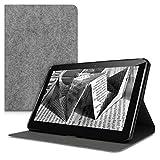 kwmobile Wallet Case Filz Hülle für Samsung Galaxy Tab 2 10.1 P5100/P5110 - Cover Flip Tasche in Hellgrau