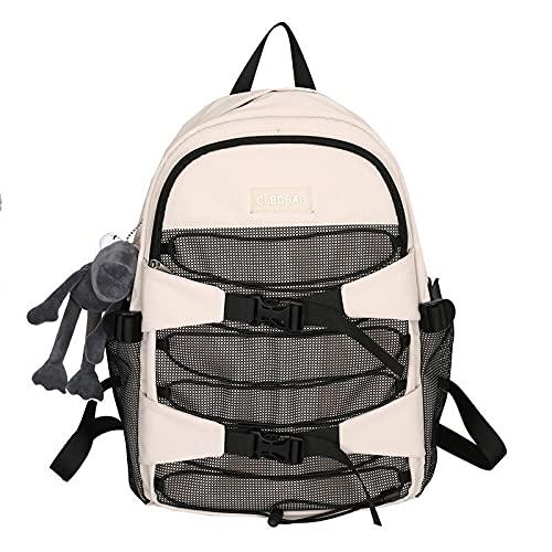 QIANJINGCQ Mochila, mochila de moda para estudiantes, mochila salvaje de gran capacidad de viaje, bolsa simple para deportes al aire libre, mochila personalizada