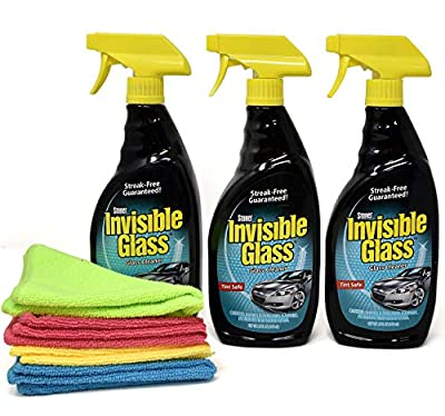 Invisible Glass Cleaner and Window Spray, Streak Free Shine for Auto, Film Free Glass Cleaner Safe for Windshield, Tinted and Non Tinted Windows