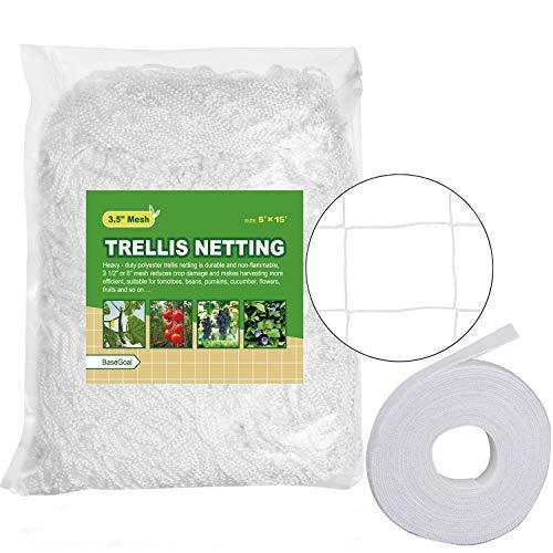 BaseGoal All-Weather Trellis Netting Garden Vine Plant Growing