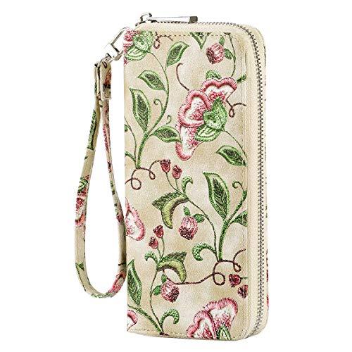 HAWEE - Cartera de piel con cremallera para guardar tarjetas de teléfono móvil - - 7.7 * 3.5 * 2 cm