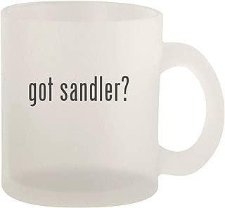 got sandler? - Glass 10oz Frosted Coffee Mug
