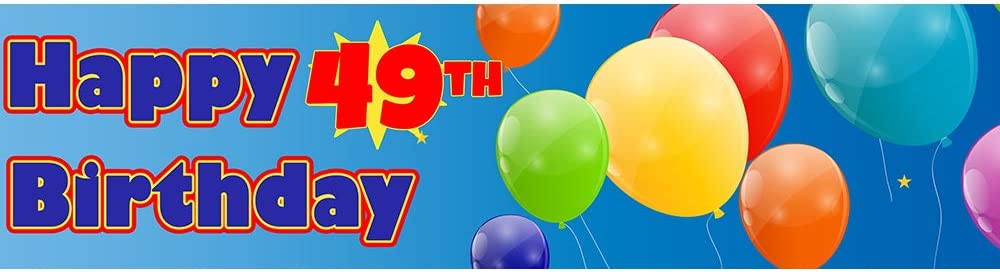 49th Birthday Banner to Bombing free shipping Partypro Each by Go NEW before selling