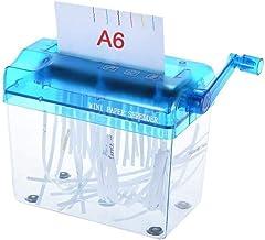 $29 » BERTY·PUYI Small Desktop Manual Paper Shredder Hand Papers Cutting Office Mini Portable Paper Shredder